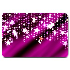 Background Christmas Star Advent Large Doormat  by BangZart