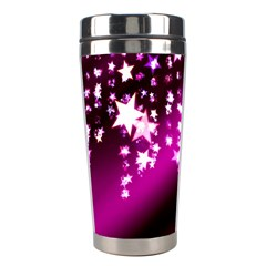 Background Christmas Star Advent Stainless Steel Travel Tumblers by BangZart