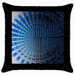 Data Computer Internet Online Throw Pillow Case (black) by BangZart