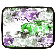 Horse Horses Animal World Green Netbook Case (large) by BangZart