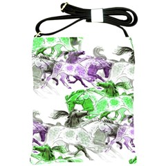 Horse Horses Animal World Green Shoulder Sling Bags