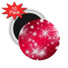Christmas Star Advent Background 2 25  Magnets (10 Pack)