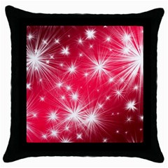 Christmas Star Advent Background Throw Pillow Case (black) by BangZart