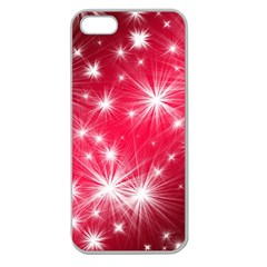 Christmas Star Advent Background Apple Seamless Iphone 5 Case (clear) by BangZart