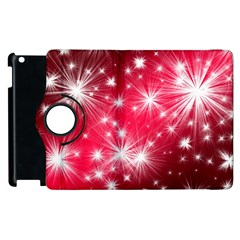 Christmas Star Advent Background Apple Ipad 2 Flip 360 Case by BangZart