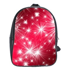 Christmas Star Advent Background School Bag (xl) by BangZart