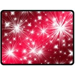 Christmas Star Advent Background Double Sided Fleece Blanket (Large)  80 x60  Blanket Back