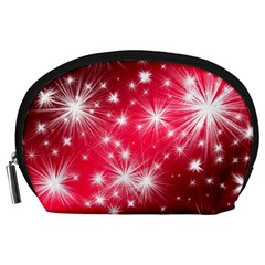 Christmas Star Advent Background Accessory Pouches (large)