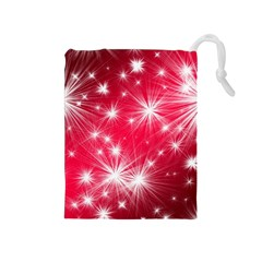 Christmas Star Advent Background Drawstring Pouches (medium)