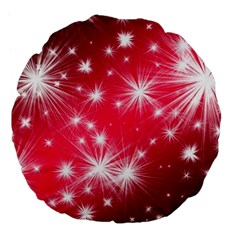 Christmas Star Advent Background Large 18  Premium Flano Round Cushions by BangZart