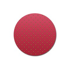 Strawberry Pattern Magnet 3  (round) by jumpercat