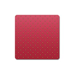 Strawberry Pattern Square Magnet by jumpercat