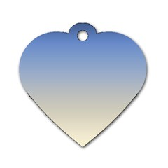Aurora Dog Tag Heart (two Sides)