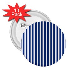 Blue Stripes 2 25  Buttons (10 Pack)  by jumpercat