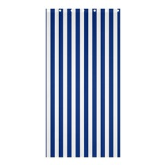 Blue Stripes Shower Curtain 36  X 72  (stall)  by jumpercat