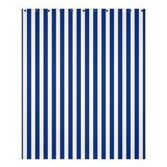 Blue Stripes Shower Curtain 60  X 72  (medium)  by jumpercat