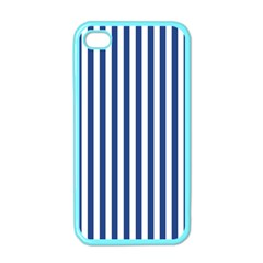 Blue Stripes Apple Iphone 4 Case (color) by jumpercat
