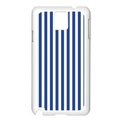 Blue Stripes Samsung Galaxy Note 3 N9005 Case (white) by jumpercat