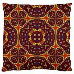 Geometric Pattern Large Cushion Case (one Side) by linceazul