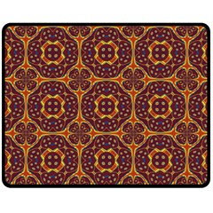 Geometric Pattern Fleece Blanket (medium)  by linceazul