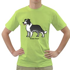 Border Collie Men s T Shirt (green) by allthingseveryday