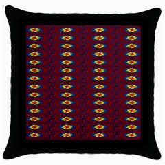 Geometric Pattern Throw Pillow Case (black) by linceazul