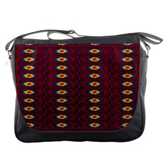 Geometric Pattern Messenger Bags by linceazul