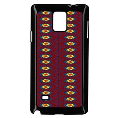 Geometric Pattern Samsung Galaxy Note 4 Case (black) by linceazul
