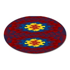 Geometric Pattern Oval Magnet by linceazul
