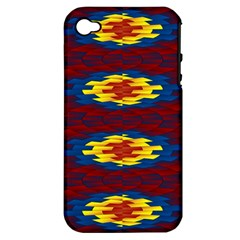 Geometric Pattern Apple Iphone 4/4s Hardshell Case (pc+silicone) by linceazul