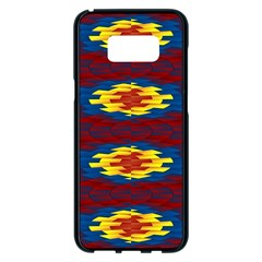 Geometric Pattern Samsung Galaxy S8 Plus Black Seamless Case by linceazul