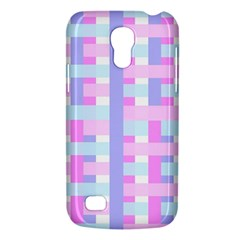 Gingham Nursery Baby Blue Pink Galaxy S4 Mini by BangZart