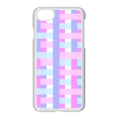 Gingham Nursery Baby Blue Pink Apple Iphone 8 Seamless Case (white)