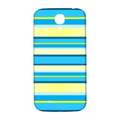 Stripes Yellow Aqua Blue White Samsung Galaxy S4 I9500/i9505  Hardshell Back Case