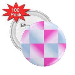 Gradient Blue Pink Geometric 2 25  Buttons (100 Pack)