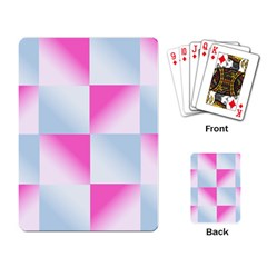 Gradient Blue Pink Geometric Playing Card