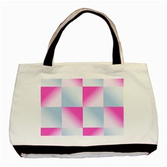 Gradient Blue Pink Geometric Basic Tote Bag (two Sides)