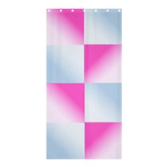 Gradient Blue Pink Geometric Shower Curtain 36  X 72  (stall)  by BangZart