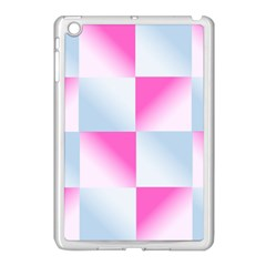 Gradient Blue Pink Geometric Apple Ipad Mini Case (white)