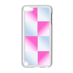 Gradient Blue Pink Geometric Apple Ipod Touch 5 Case (white)