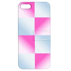 Gradient Blue Pink Geometric Apple Iphone 5 Hardshell Case With Stand