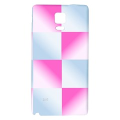 Gradient Blue Pink Geometric Galaxy Note 4 Back Case