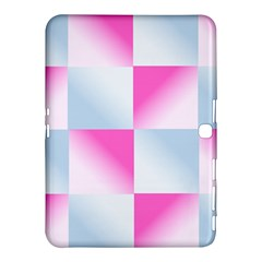 Gradient Blue Pink Geometric Samsung Galaxy Tab 4 (10 1 ) Hardshell Case  by BangZart