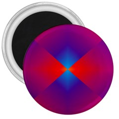 Geometric Blue Violet Red Gradient 3  Magnets by BangZart