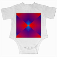 Geometric Blue Violet Red Gradient Infant Creepers by BangZart
