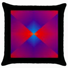 Geometric Blue Violet Red Gradient Throw Pillow Case (black)