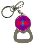 Geometric Blue Violet Red Gradient Button Necklaces Front