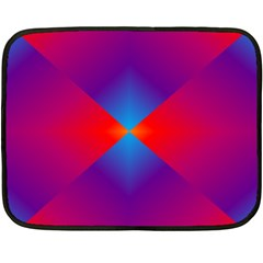 Geometric Blue Violet Red Gradient Double Sided Fleece Blanket (mini)  by BangZart