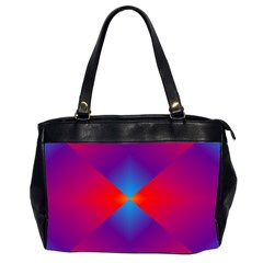 Geometric Blue Violet Red Gradient Office Handbags (2 Sides)