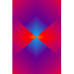 Geometric Blue Violet Red Gradient 5 5  X 8 5  Notebooks